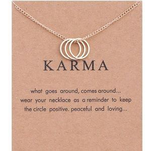 Jewelry - Inspirational Karma Charm Necklace NEW